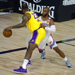 【NBA】OKC対LAL 調子の上がらないLALが敗北