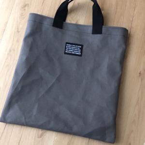 渋色帆布で図書館バッグ