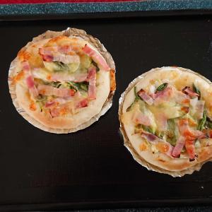 パン教室でねぎとマヨネーズのピザを作りました