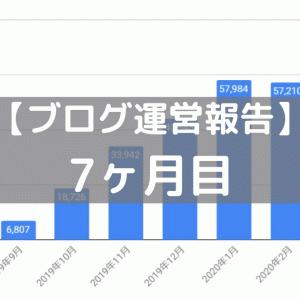 【ブログ運営報告】7ヶ月目(2020年3月)
