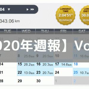 【週報】2週連続で週4走とたるみ気味(2020/04/20-04/26)