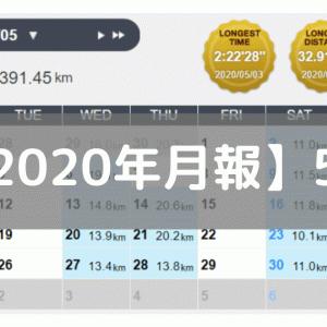 【月報】距離少なめ、スピード練多め(2020/05:391km)