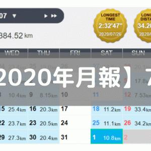 【月報】レース結果を踏まえて方針変更(2020/07:384km)