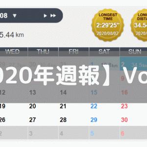 【週報】調子は徐々に上向き(2020/07/27-08/02:107.7km)