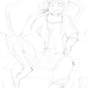 転スラの第2期始まる。リムルのイラストを描いてみた。下書き。