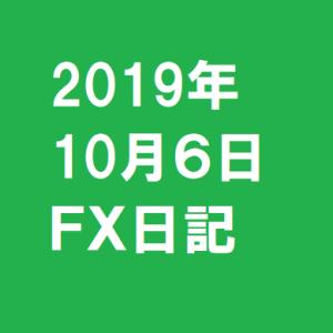 2019年10月6日FX日記