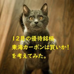 12月の優待銘柄「東海カーボン5301」買いか!考えてみた。