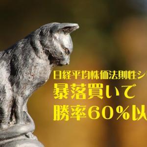 日経平均株価法則性シリーズ 暴落買いで勝率60%以上