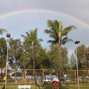 大きな虹 と Yutaka
