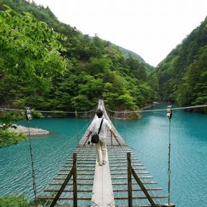 大井川水系のスリリングなつり橋2つ。夢のつり橋と塩郷のつり橋