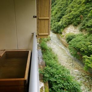 密を避けて温泉ひとり旅。湯川温泉「四季彩の宿・ふる里」の露天風呂付のお部屋にお得に一人泊