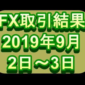 【FX】9/2~3トレード結果