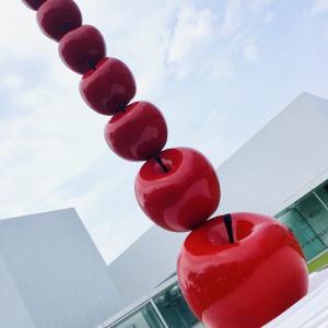 十和田市現代美術館グルメ りんごカレー美味しかったです