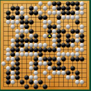 【囲碁】私の実戦図から:タケフかオサエか