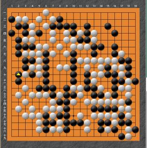 【囲碁】私の実戦から:アタリについでばかりではいけない。