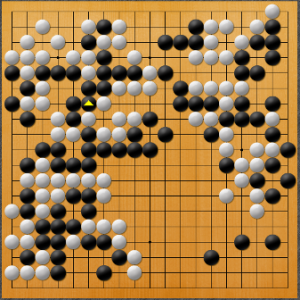 【囲碁】私の実戦から:つなぐ場所を間違えた
