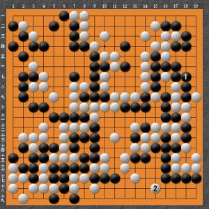 【囲碁】私の実戦から:えらいところでコウ争い発生。