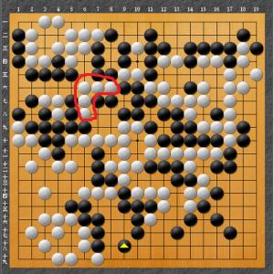 【囲碁】左右どちらからも打つことが出来ない。