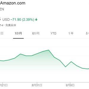 アマゾン株 下落中<br />