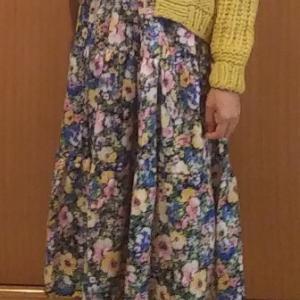 いつかのコーデ:リリーブラウン カーディガン×tocco 花柄ワンピース