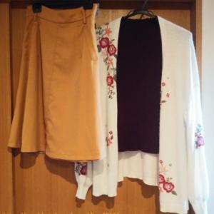 コーデ:WILL SELECTION刺繍カーデ×ジャスグリッティー スカート