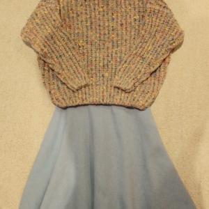 コーデ:DHOLICカラーミックスニット×スローブイエナ スカート