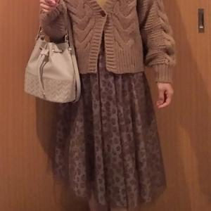 コーデ:神戸レタスニット×ジャスグリッティー レオパードチュールスカート