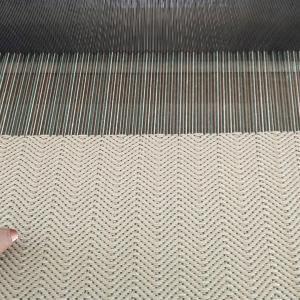 レバー式織り機で