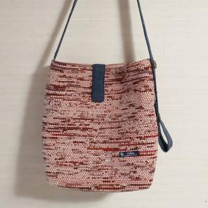 裂き織りバッグができた