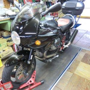 MOTO GUZZI(モトグッチ) V11 Lemans がリアブレーキ不調で入庫