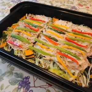 素材のうまみを引き出す野菜たっぷりの蒸し豚 超簡単ホットプレートレシピ