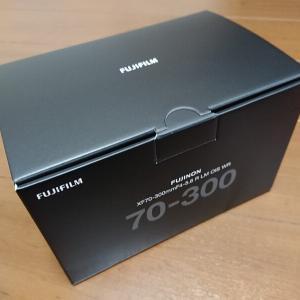 FUJIFILM XF70-300mmF4-5.6 R LM OIS WR 3月18日が発売日。さっそく我が家にやってきた。