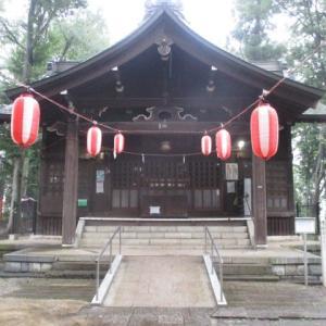浅間神社に提灯が付き、雰囲気は夏!な富士森公園(2020年7月31日)