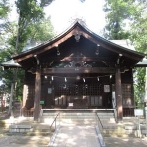 木陰で涼しい富士森公園(2020年8月7日)