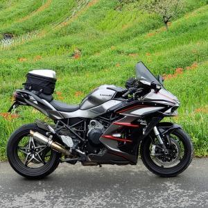 Ninja H2 SX SE+ 202009房総散走その2 タイヤ交換