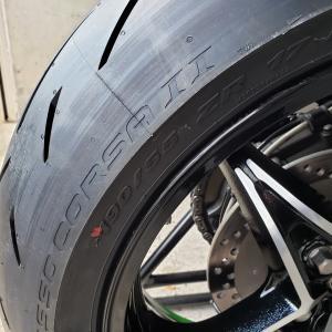 Ninja H2 SX SE+ タイヤ交換(ロッコル2)