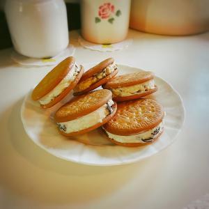 チーズクリームクッキーを作りました