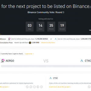 Binance Community Vote: Round 3 – AERGO VS CTXC