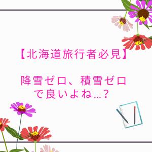 4月の北海道は雪が降らないのか【北海道旅行者必見】