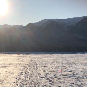 ワカサギ 釣り第三戦 糠平湖 (サクラマスを探して…)