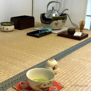 今日は一人でお茶の自主練習
