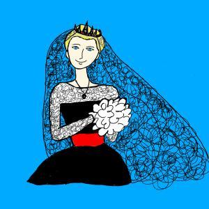 ブラック・ウェディングドレスで結婚式