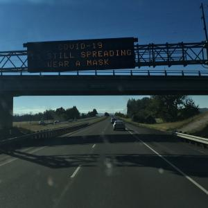 コロナ禍の中、オレゴンからカルフォルニアへ