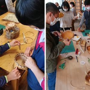 白樺樹皮のかご作りワークショップ