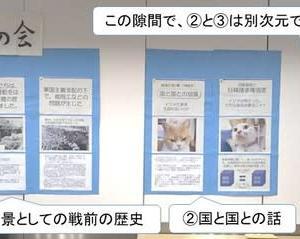 猫にもわかるニャー日韓問題。世田谷区桜丘区民センター祭展示で対話