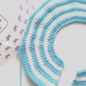 サイズがないので毛糸のエリザベスカラー編んでみます。