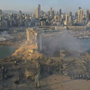 【悲報】大爆発のレバノン、ゲーム画面みたいな景色になる