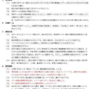 AIFA U-15サッカーリーグ地区1位大会 2020【要項】