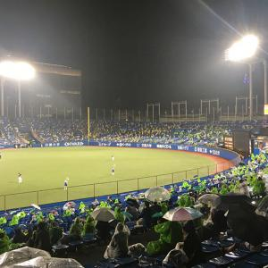 7/28 阪神戦● 16点差つけられ、雨に打たれ…よい修行でした。