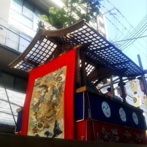 祇園後祭りの鉾町と役行者山